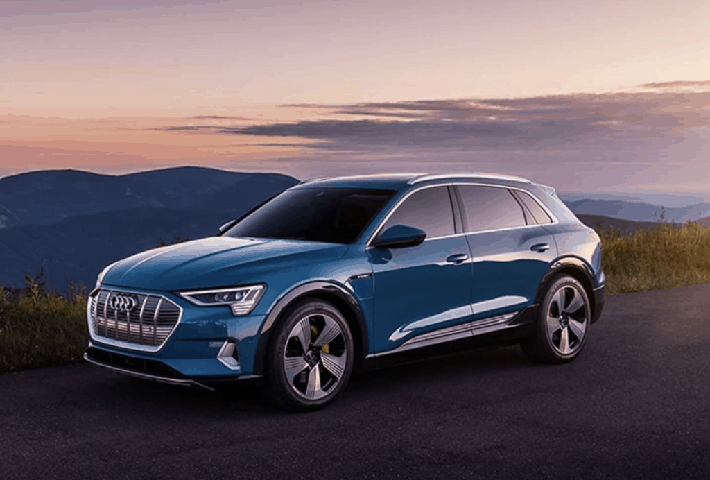 Audi E-Tron electric car all wheel drive