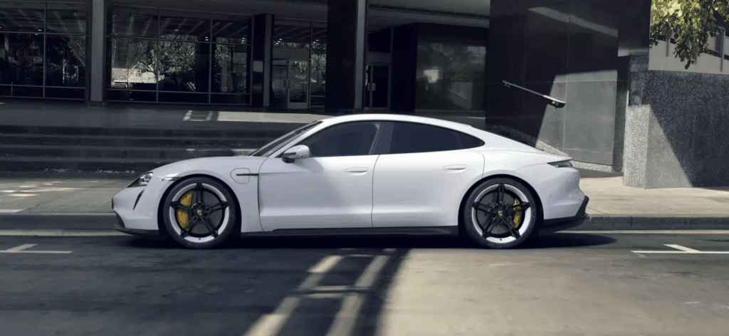 Porsche Taycan 4S electric car AWD