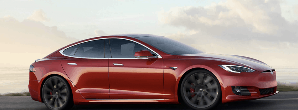 Tesla Model S all wheel drive electric car